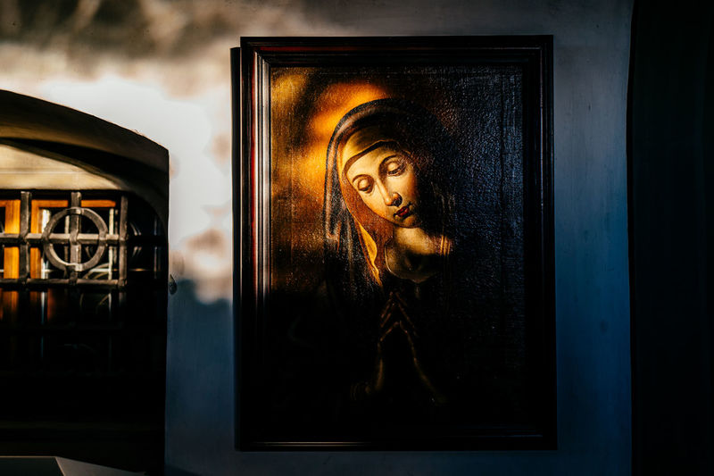 Art Close-up Creativity Day Door Front View Glass - Material Gormund Holding Indoors  Leisure Activity Lifestyles Looking At Camera Lucerne Madonna Metal Switzerland Transparent Wall - Building Feature Window Young Adult Young Women