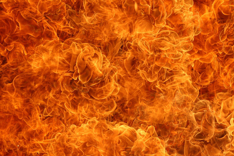 Abstract image of fire against black background