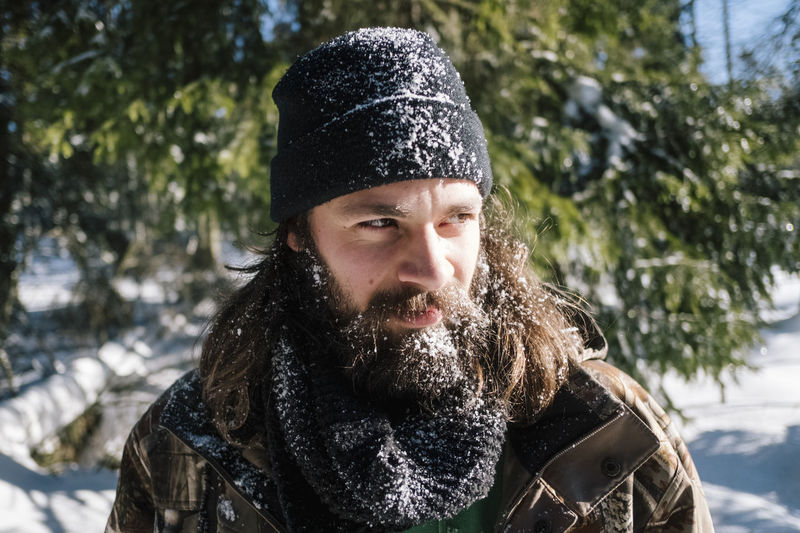 Harz Harz Harzmountains Harz Mountains, Germany Harzreise Brocken Hiking Schnee Snow Winter Winter Wonderland Tree Cold Temperature Nature Outdoors Warm Clothing Beard Facial Hair Clothing One Person Portrait Hat Knit Hat Headshot Front View Adult Men Smiling Snowing Scarf