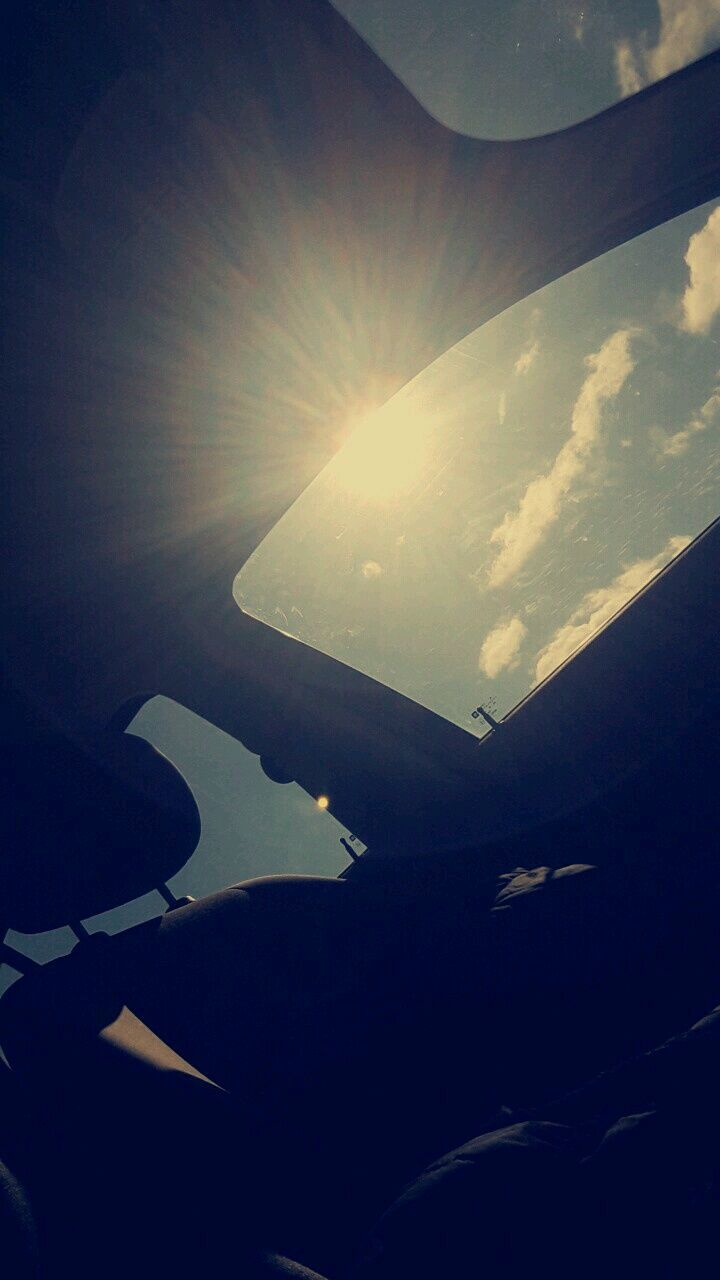 sun, lens flare, sunbeam, sunlight, nature, beauty in nature, sky, no people, day, scenics, airplane, outdoors, airplane wing, close-up
