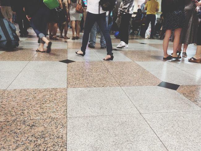 Train Station Waiting Area Commute