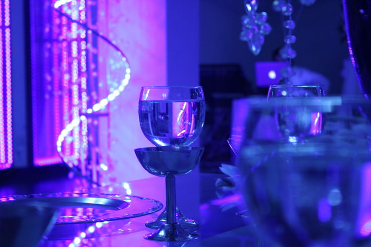 Banquet Close-up Deem Glass Glowing Illuminated Light And Shadow Lit Night No People Selective Focus Still Life Table Wine Glass Wineglass Pivotal Ideas