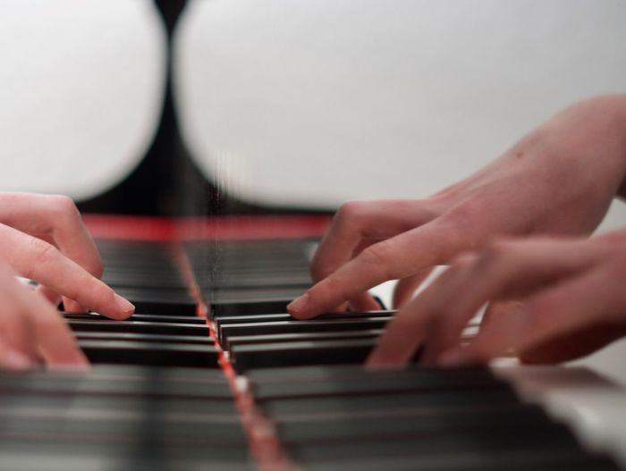 Piano Moments Piano Piano Keys Hands Human Hand One Person Music Playing Musical Instrument Leisure Activity Close-up Piano From My Point Of View