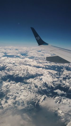 Aerial View Airplane Travel Aircraft Wing Scenics Transportation Flying Landscape Cold Temperature Sky