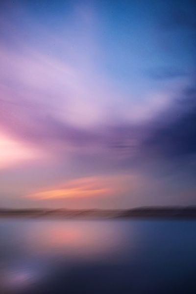 That sunset feeling. Sunset Reflection Dramatic Sky Cloud - Sky Scenics Horizon Over Water Dusk Sea Sky Water Beauty In Nature Nature Tranquility Tranquil Scene Outdoors No People Blue Ethereal Beach Landscape
