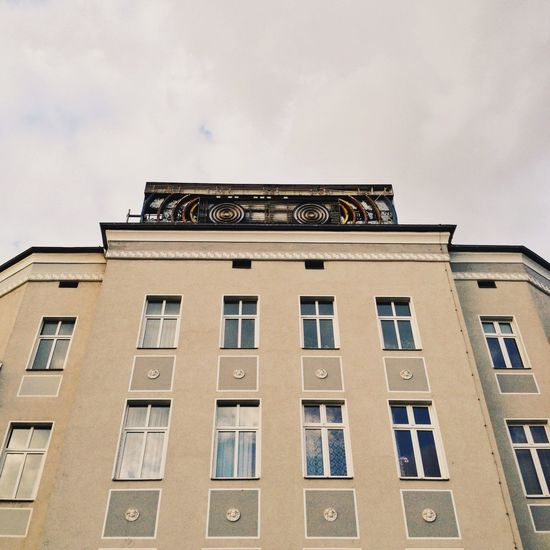 Architecture Berlin Berlin Photography Berliner Ansichten Building Building Exterior Built Structure City Day Façade Glass Lookingup Low Angle View No People Outdoors Prenzlauerberg Reflection Sky Symmetrical Symmetry Window Windows
