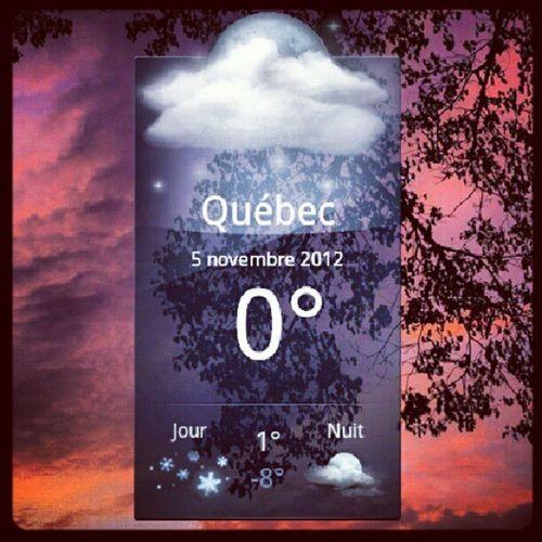 Freeeeezing !!! Quebec 0 Temperature Freez  brrr lol night