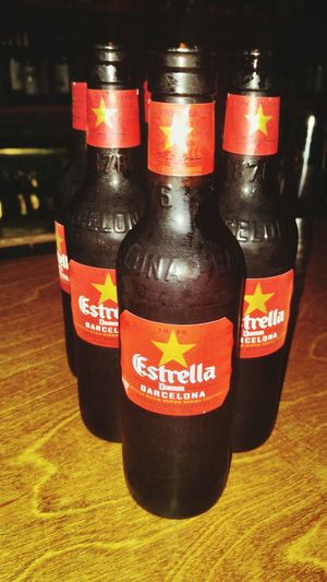 Estrella Barcelona Beer Beers Night Out On The Town Yum SPAIN Latinoamerica Latino Love Good Times Hanging Out Check This Out