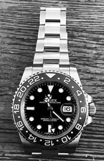 GMT Master II Rolex Timepiece ⌚ Watch Eyemphotography Gmtmaster Gmtmaster2 Blackandwhite IPhoneography Noedit No Edit/no Filter