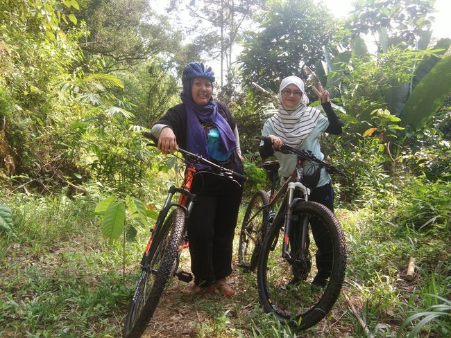 Taking Photos EyeEmNewHere Happiness Day Looking At Camera Together Jungle Shoot Real People Outdoors Adventure Nature Naturelover Lifestyles Bonding Human Face Leisure Activity Peaceful JungleExperience Smiling Jungle Plants Naturelovers Bicycle Adventures Bicycle Adventuring Bicycles Trees And Nature Bicycle Trip