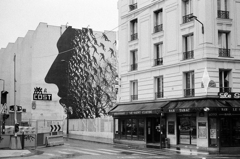 Konica Hexar AF Ilford HP5 Plus Ilford HP5 Plus 400 Street Art/Graffiti Architecture Street Street Art
