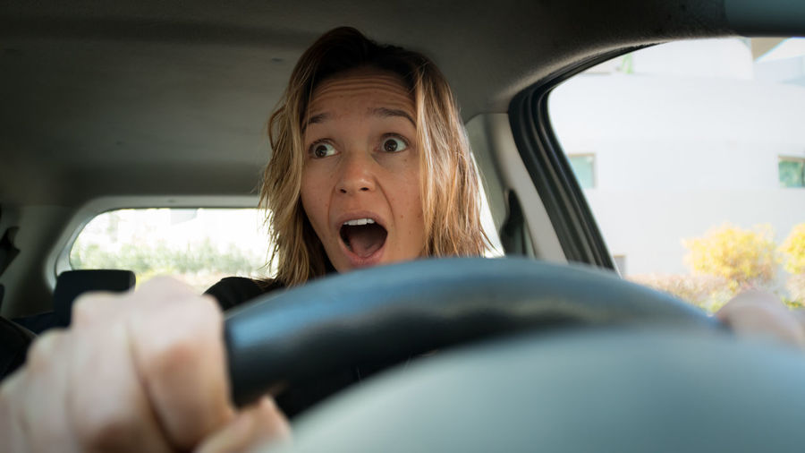 Drive Driving Road Rage Frustration Surprised Accident Car