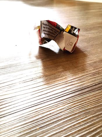 Not Smoking Fastenzeit Empty Pack Zigaretten Tabac Indoors  Table No People Wood - Material Close-up Day Inner Power