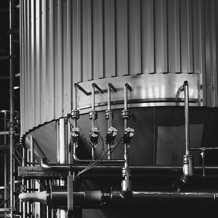 It takes some engineering to get this beer flowing ;) Metal Indoors  No People Architecture Pipe Tank Craft Beer FUJIFILM X-T10 XF18-55mmF2.8-4 R LM OIS F/3.6 ISO 800 via Fotofall