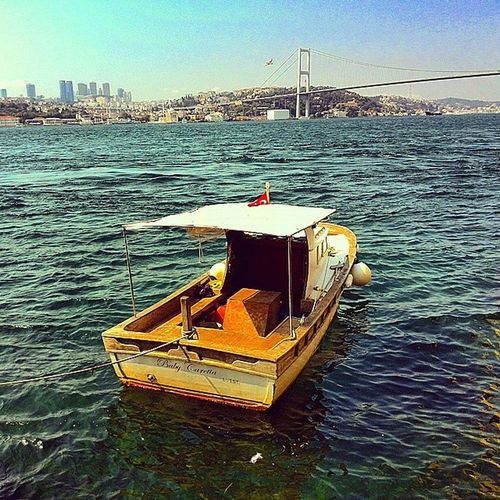 Bogazdaki yanliz kovboy:) Istanbul Turkey Instaturkey Instamood instagood sea blue travel view