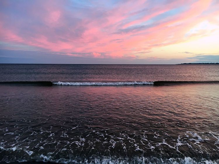 Sunset Water Sea Beauty In Nature Scenics Sky Nature Beach Tranquility Cloud - Sky Horizon Over Water Outdoors