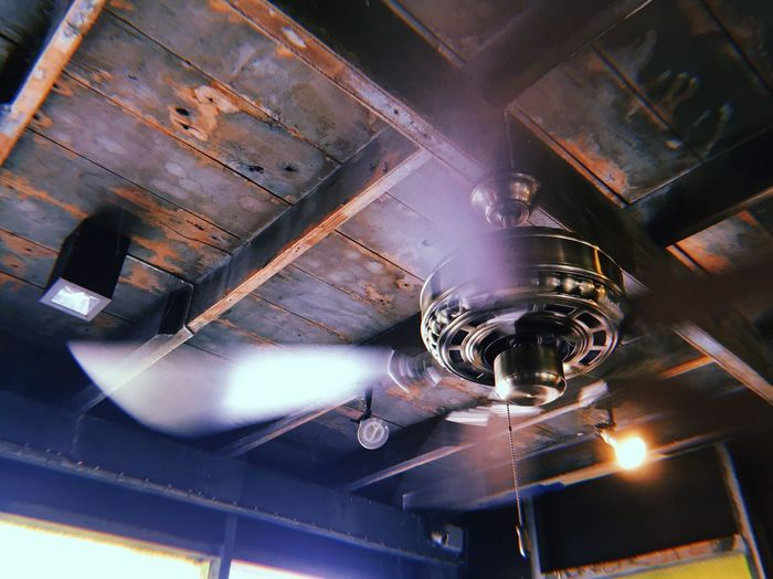 Blurred motion of ceiling fan