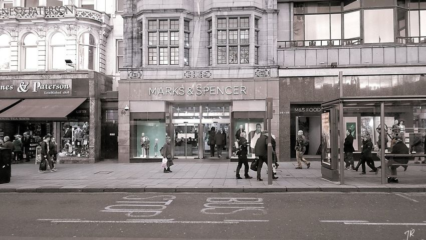 Edinburgh Princes Street Marksandspencer Scotland
