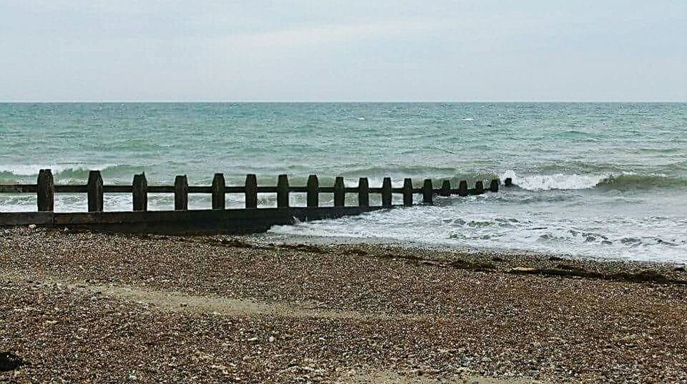 Littlehampton Seaside Beach Stones Waves Lapping Beachlife Drifting Wooden White Water Sections
