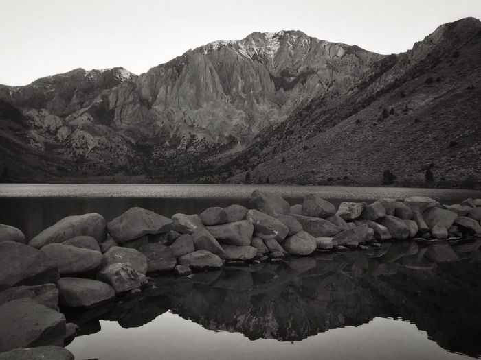 Remembering Autumn and running laps around Convict Lake in preparation for my first marathon. Never would have imagined the incredible snow pack filled months that were about to follow...nor the effort/obstacles to confront/overcome for the race. Nature Mountain Water Beauty In Nature Mountain Range Scenics Rock - Object Day Lake Landscape Outdoors Tranquility Clear Sky Tranquil Scene Sky No People Blackandwhite Black And White