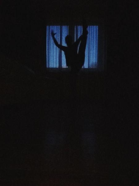 Human Hand Halloween Domestic Room Silhouette Trapped Window Spooky Dark