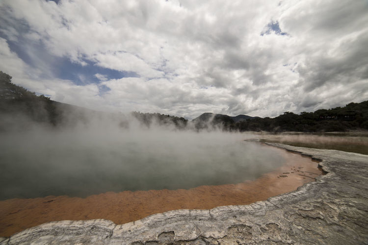 Hot pool close to Rotorua, New Zealand Rotorua  Rotorua New Zealand Steam Beauty In Nature Cloud - Sky Day Geology Geyser Heat Hot Pools Hot Spring Lagoon Landscape Nature New Zealand No People Non-urban Scene Physical Geography Poisonous Power In Nature Sulfur  Volcanic Landscape Water