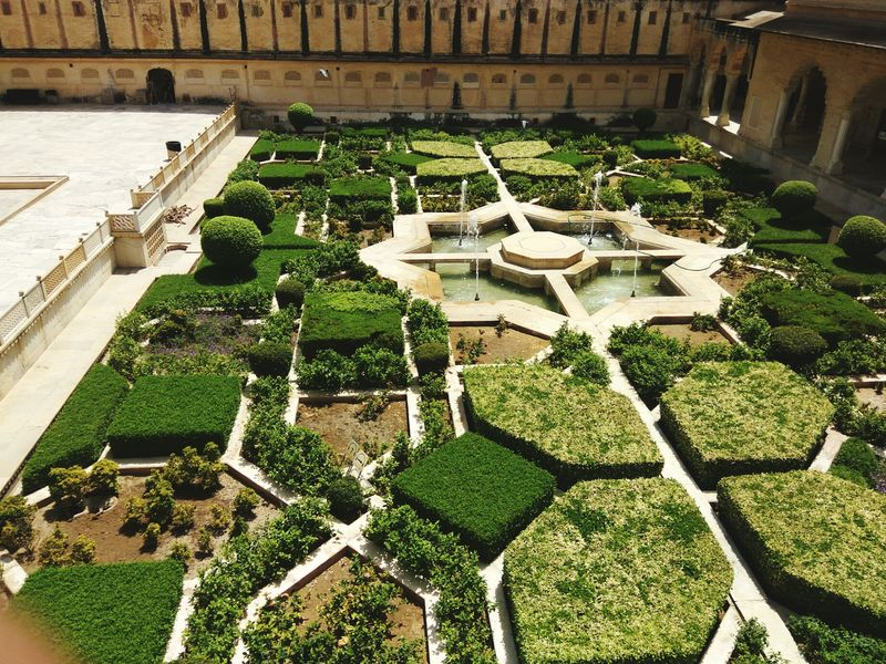 Amer Fort Amer Fort Garden Beatiful Place Green Goodness Indianpictures Perfection❤❤❤ Love To Take Photos Indianphoto Love To Take Photos ❤ Built Structure Nature
