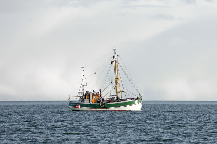Nautical Vessel Transportation Mode Of Transportation Sky Sea Water Ship Sailing Sailboat Cloud - Sky Nature Travel Day Horizon Outdoors Horizon Over Water No People Sailing Ship Luxury Passenger Craft Kutter Sylt Sylt, Germany Sylt_collection