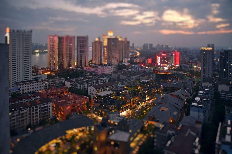 City Night Sky City Life