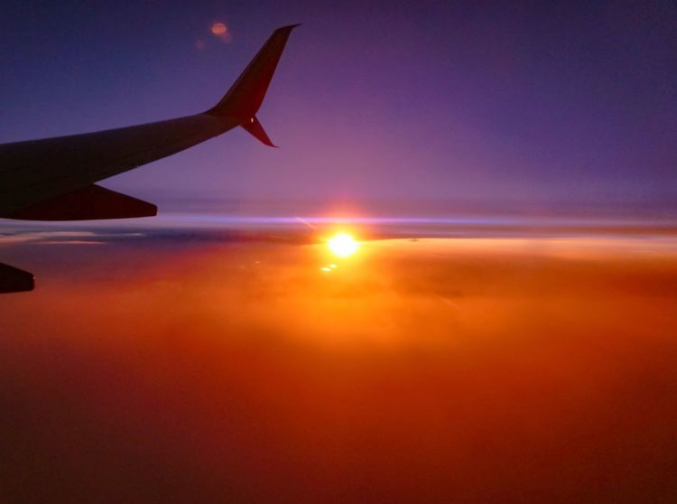 Sunset Airplane Sky Sun Nature Scenics Travel VSCO Vscocam Photography Photooftheday Photo Colors Beauty In Nature Outdoors Explore Pretty