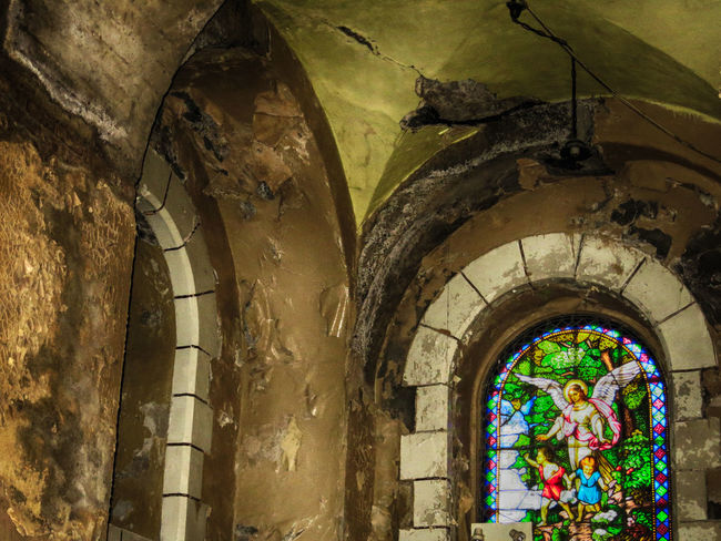 Arch Architecture Building Exterior Built Structure Church Day Entrance Indoors  Low Angle View No People Old Ornate Place Of Worship Religion Spirituality Stone Wall Wall Wall - Building Feature Window Outdated Architecture Decrepitude The Architect - 2016 EyeEm Awards