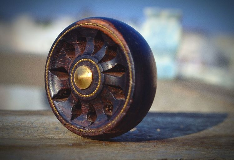 Wooden Wheelchair Wheels Of Time Brown Close-up Outdoor