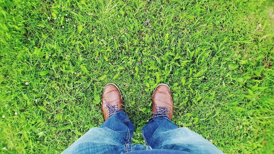 That's Me shoe shot Hi! Lush green grass Enjoying Life