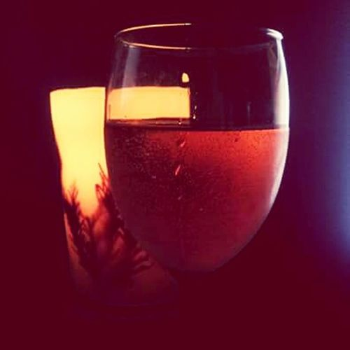 Wine Wineglass Candle Candlelight CeBPhotography