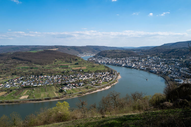 Boppard, Germany Water Architecture Sky City Built Structure Building Exterior Nature Mountain Cloud - Sky Building Scenics - Nature Environment Day Town Landscape High Angle View Beauty In Nature Outdoors Residential District No People Cityscape Bay
