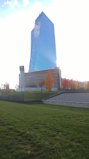 4 P.m. Around The ECB Autumn Colors Bright Colors European Central Bank Great Sky October 30th, 2016 Romantic Landscape Sunshine!