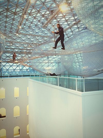 Hanging Out Taking Photos Having Fun Climbing Mesh ArtWork Art Modern Architecture Architecture Glass Roof Ceiling Light And Shadow Climbing A Mountain Climbing Stuff