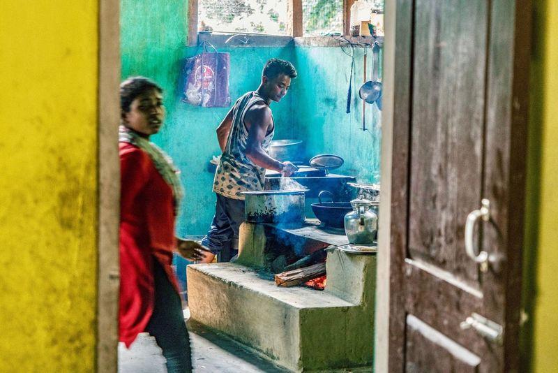 EyeEm Selects Real People Tourism People Of India Street Photography Street Cooking Two People Indoors  Day Art Studio People Adult Young Adult India Arunachal Pradesh ArunachalPradesh Bhalukpong Travel Destinations Streetphotography Portrait Photography EyeEmNewHere