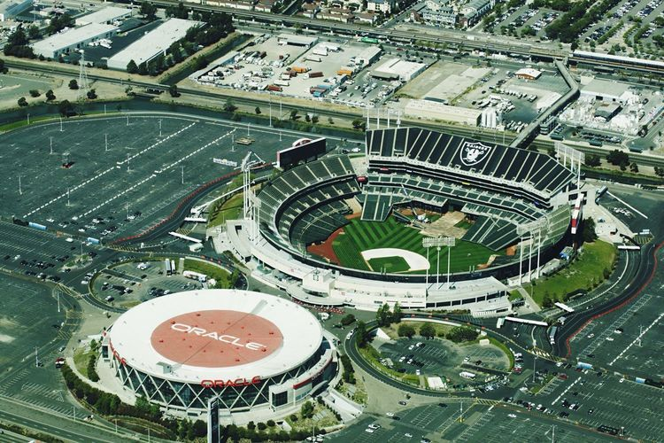 Oakland Raiders Football Stadium Oracle Stadium NFL Football View From Above