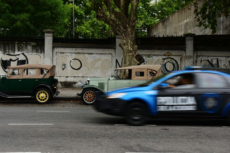 Car Land Vehicle Transportation Mode Of Transport Motion Urgency Yellow Taxi Outdoors City Tree No People Day Nikon Buenos Aires Chevrolet 1930 Vehicles 1930s Ford A City Life Vintage Cars Ford Vintage Police Car
