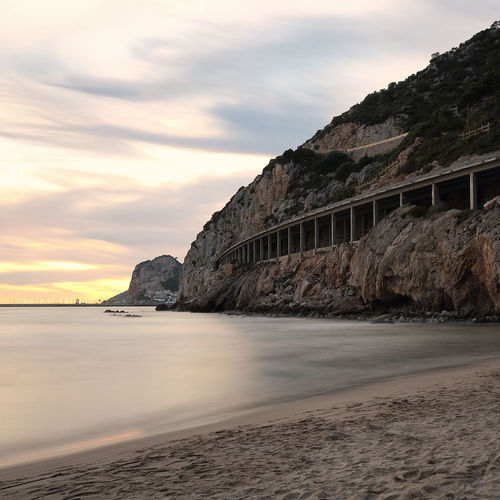 Arena Barcelona Catalunya Garraf Port Ginesta Beach Cloud - Sky Horizon Over Water Nature No People Outdoors Sand Sea Sky Tranquility Water