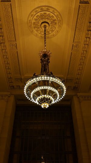 Chandelier in Grand Central Terminal Grand Central Station New York New York City Travel Travel Photography Nightphotography Night Photography Good Times Followme Pixelxl2 Hanging Illuminated Pattern Ceiling Lighting Equipment Architecture Chandelier Hanging Light