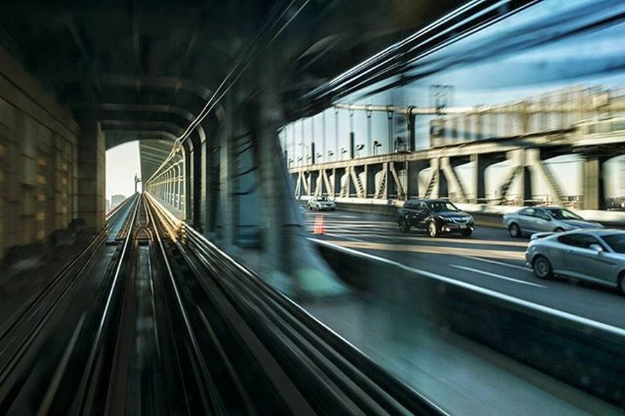 Race to the Finish Bridge Benfranklinbridge Train Patco Philadelphia Philly Igers_philly Liphillyfe Citylife Citystreets Howphillyseesphilly Rustlord_launchpad Rustlord_street Rsa_streetview Rsa POTD Bnw_magazinecolorourpage