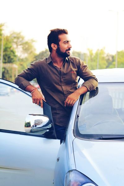 Prashant Pandat - Abshine photography Abshine Abshine_photography Canon Canon1200d Photography Abshine_love Photographers_of_india Car Only Men One Man Only Transportation Adults Only One Young Man Only Adult Outdoors Portrait Beard