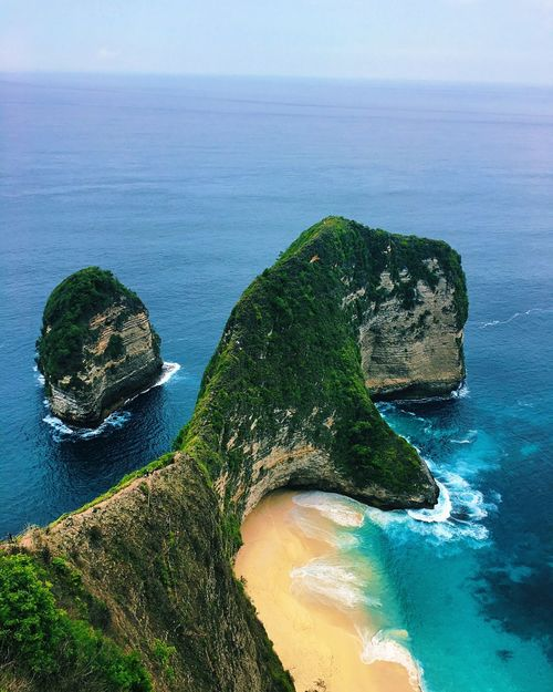 Klungkung Sea Water Scenics Beauty In Nature Nature Rock - Object Rock Formation