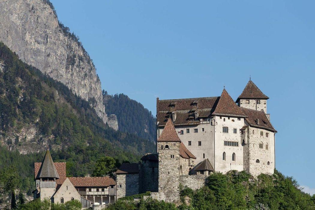 Castle Balzers Liechtenstein #1 Liechtenstein Balzers Swiss Austria History Travel Destinations Architecture Castle Outdoors Clock Tower Mountain Clock Face Nature