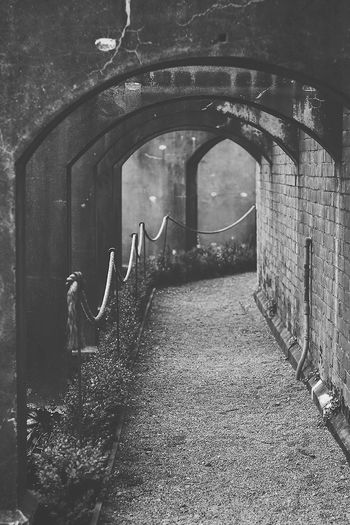 Path Adventure Arch Architecture Blackandwhite Bricks Built Structure Day Mystery No People Old Pretty The Way Forward Walkway