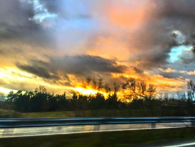 Sur la route On The Road Sur La Route Ciel Et Nuages CIELFIE Sky And Clouds Skyfie Ciel Sky
