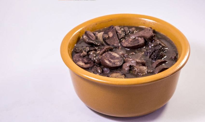 Appetizer Beans Feijoada Lunch Meal Pork Typical Background Brazilian Cooked Delicious Food Torresmo