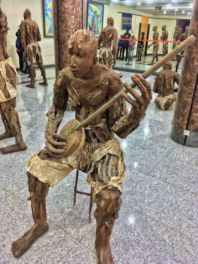 Dakar Art And Craft Sculpture Day Representation Creativity Outdoors Statue Strength Incidental People City Architecture Craft